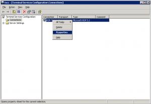Terminal Services Configuration