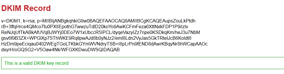Konfigurasi dkim multi domain zimbra - dkim valid status