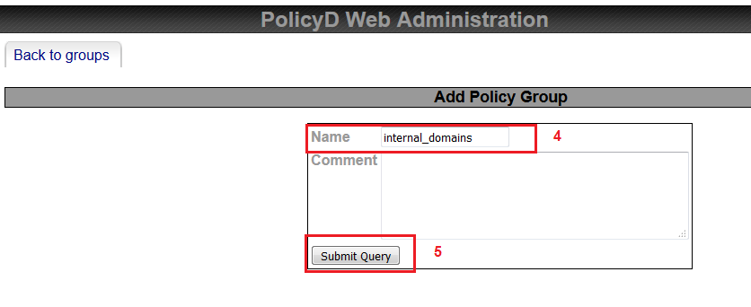 saadwebid policies groups policyd add rate limit zimbra