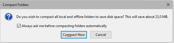 SaadWebId - Menonaktifkan Compact Folder Pada Thunderbird