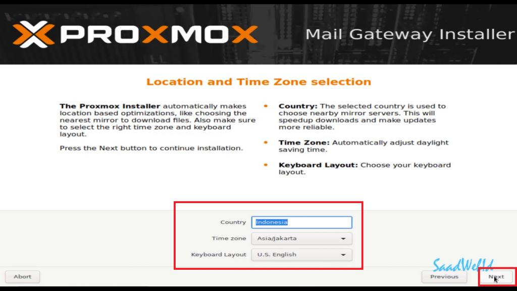 Cara Install Proxmox Mail Gateway 6
