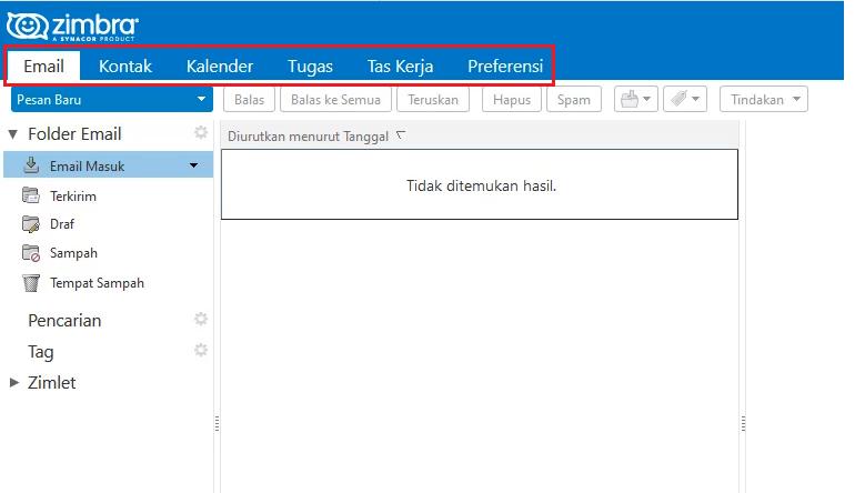 Merubah WebClient Zimbra Menggunakan Bahasa Indonesia