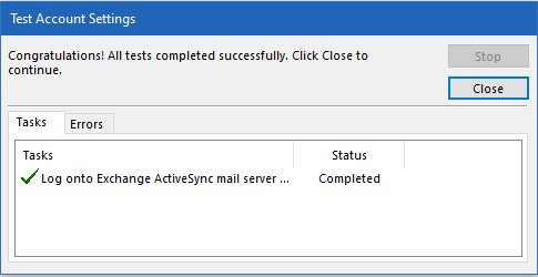 Konfigurasi ActiveSync Akun (Zimbra)